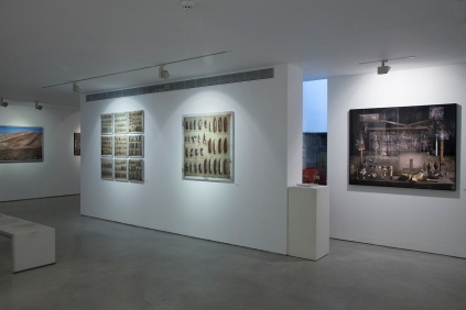 Yuval Yairi I Surveyor I Installation view I (from left to right) Survey #2 I Bullets Archive I Banana
